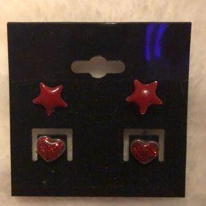 NEW scarlet staples post earrings